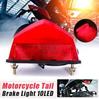 12V 10 LED Fanale Posteriore Faro Lampada Luce Freno Targa Moto ATV Universale
