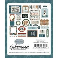 Winter Snow Icons Paper Die Cuts Ephemera Carta Bella CBIS92024 New