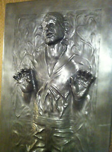** LIFE FULL SIZE HAN SOLO IN CARBONITE PROP STATUE STAR WARS 1:1 **