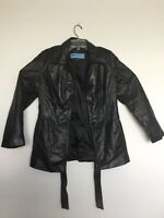 Kenneth Cole Reaction Medium Vintage Men's Black Soft Leather Jacket