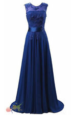 Bridesmaid Dress Chiffon Long Evening Wedding Party Ball Gown Prom Dresses