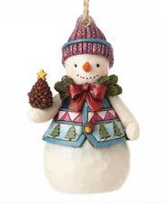 Mini Snowman Jim Shore Hanging Ornament Weihnacht Schneemann Winter 4058831