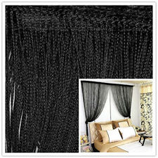 Decor Black String Curtains Patio Net Fringe Door Fly Screen Windows Divider