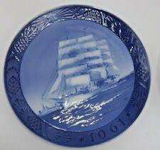 Royal Copenhagen Kai Lange Danmark The Training Ship Collector Plate 1961