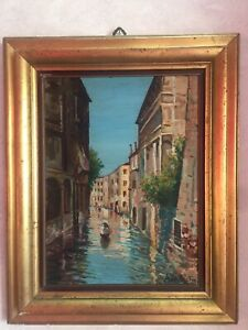 Quadro canale di Venezia del Pittore Andrea De Castro