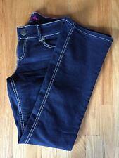 Womens Wrangler Mae Booty Up Western Premium Jeans Dark 10MWZBR Sz 3/4 x 30