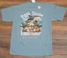 Newport Blue T-Shirt Pool Shark Billiards Bermuda Triangle Tee Mens T-Shirt