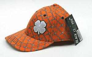 New Black Clover Live Lucky Orange S/M Stretch Fit Golf Hat Casual Beachwear