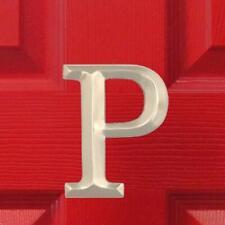 Monogram Letter P Door Knocker - Nickel Silver