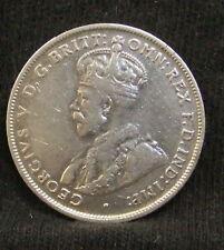 1927 Australia 1 Florin Silver Coin KM 27 VF George V Very Fine Vintage .3363asw