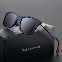 HD Polarized Sunglasses Men Retro Classic Square Outdoor Driving Eyewear Glasses
