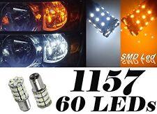 10Pcs 1157 Dual White Amber Switchback 60SMD LED Turn Signa Parking Brake Lights