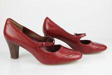 Escarpins à Brides Cuir Rouge MARKS & SPENCER UK 5,5 / FR 39 TBE