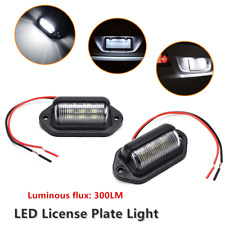 2PCS Universal LED Trailer Truck Armored Off-road Vehicle Fit License Plate Lamp
