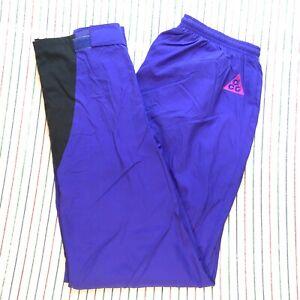 997 Nike ACG Trail Pants Hiking Gortex Hydrofil 3 Layers Men's Size LARGE PURPLE