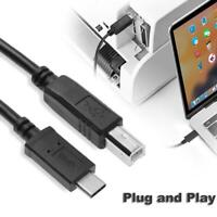 USB 3.1 Type-C Male to USB2.0 B Male Printer Scanner Cord Cable Connector Wire