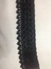 3 INCDesigner Ethnic Fancy Black Cotton Fabric Lace Saree Kurti Duppatta 4.5 mtr
