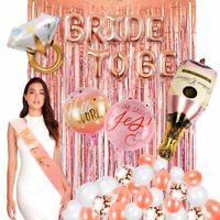 32X Rose Gold Confetti Foil Balloon Bride To Be Wedding Bachelorette Party Decor