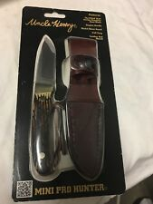"""Schrade Uncle Henry Fixed Mini Pro Hunter Knife 2.76""""Blade Staglon Handle PH2NCP"""