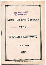 RADIO CATALOGO METRO ELECTRIC COMPANY