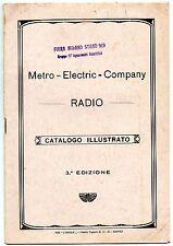 RADIO CATALOGO METRO ELECTRIC COMPANY
