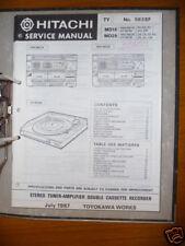Manual de servicio para Hitachi HRD-MD18/28,HT-MD28 ORIGINAL