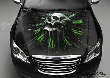 Skull Clock Full Color Graphics Adhesive Vinyl Sticker Fit any Car Hood #183