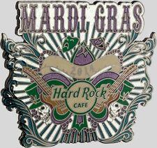 Hard Rock Cafe ONLINE 2014 MARDI GRAS PIN Mask Guitars Beads Skulls HRC #21885