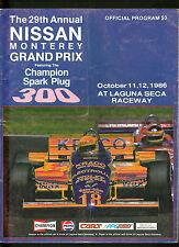 1986 Champion Spark Plug 300 Nissan Monterey Grand Prix Program Indy