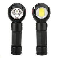 800 Lumens T6+COB LED Flashlight Torch 360° Rotating Lamp USB Charge with Magnet