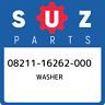 08211-16262-000 Suzuki Washer 0821116262000, New Genuine OEM Part