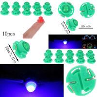 10Pcs T4.7 Wedge LED Bulb Dash Climate Control Instrument Base Light Lamp~ w/