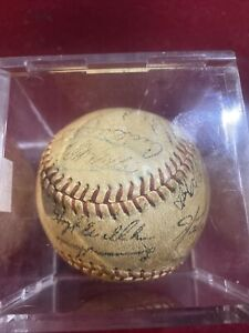 1960s Or 1970s Atlanta Braves Signed Baseball Tons Of Signatures