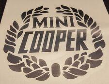 "CLASSIC MINI COOPER BLACK LAUREL DECAL 3 1/2"" x 3 3/4"" SPORTSPACK SINGLE MSA1128"