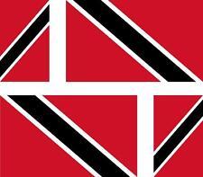 4x Adhesivo adesivi pegatina sticker vinilo bandera moto coche trinidad y tobago