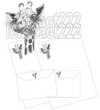 Lady Giraffe Letter writing stationery set 8+4 (on special offer)