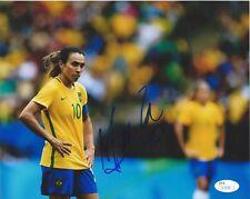 MARTA Signed Autographed 8x10 Photo Brazil Football Soccer Pele Futbol JSA COA 2