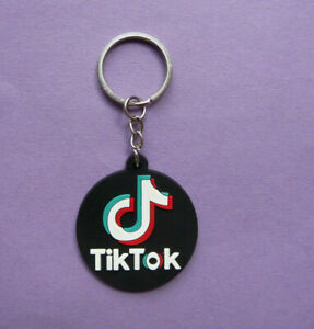 TIK TOK TIKTOK Rubber Keyring Keychain Kids Childrens Party bag filler NEW