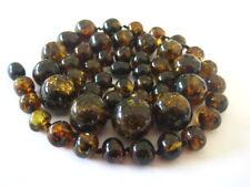 Bernsteinkette Baltic Amber Necklace Grün-Green Beads Balls