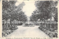 Quebec Franciscan Missionaries Of Mary Garden Statue Canada Unposted Postcard
