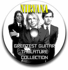 115 x NIRVANA GRUNGE METAL ROCK GUITAR TAB TABLATURE SONG BOOK SOFTWARE CD