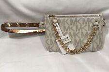 MICHAEL KORS Fanny Pack Belt MK Logo Bag 554131C Beige Size Small NWT Free Ship