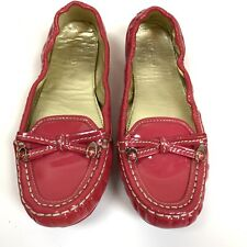 Coach Isabelle Pink Loafer Driving Shoe Women's size 7B Leatherware