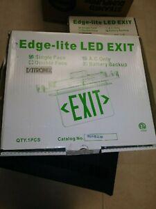 EDGE-LITE LED EXIT GREEN LETTERS .