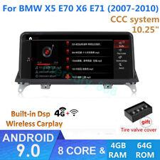 "Android 9.0 For BMW E70 X5 X6 E71Car Stereo DVD Player 10.25"" Radio GPS Navi BT"