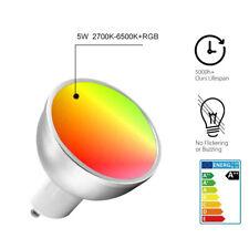 Hot Smart WiFi Bulb LED Dimmable Timer RGB 5W GU10 Light For Alexa Google UK bxc
