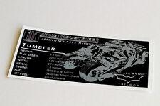 Lego Batman UCS Sticker for Tumbler (76023 / 7888)