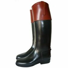 Mux Cuero caza del zorro Equitación Bota de cuero con puño de color superior Reino Unido 5-12