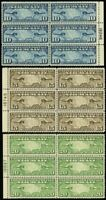 C7-9, VF/XF NH Side Plate Blocks of Six Airmails Cat $185.00 -- Stuart Katz