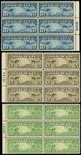 C7-9, VF/XF NH Side Plate Blocks of Six Airmails Cat $185.00 -- Stuart Katz
